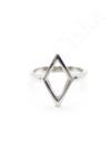 Rombus - ezüstgyűrű