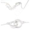 Double circle - ezüst nyaklánc