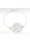 Mandala Életfa Virág - ezüst karkötő