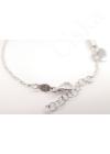 Spiral & Heart - ezüst karkötő