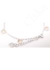 Peachy Diamonds - ezüst karkötő