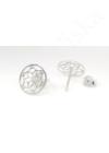 Mandala Flower- ezüst fülbevaló