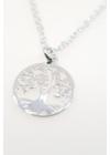 Tree of Life with Leaf - ezüst életfa nyaklánc