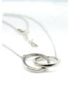 Twin Circle - ezüst nyaklánc
