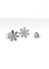 Daisy - ezüst fülbevaló
