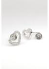 Draft Heart - ezüst fülbevaló