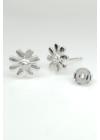 Camomile - ezüst fülbevaló