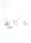 Heart Contour - ezüst fülbevaló