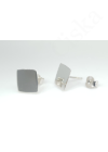 Square - ezüst fülbevaló