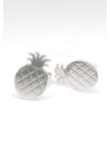 Pineapple - ezüst fülbevaló