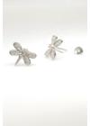Libellula - ezüst fülbevaló