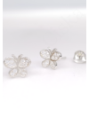 Sparkling Farfalle - ezüst fülbevaló