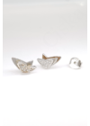Farfalle Origami - ezüst fülbevaló