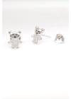 Bear - ezüst fülbevaló