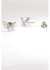 Farfalle Plain - ezüst fülbevaló