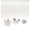 Crystal Kitty - ezüst fülbevaló