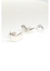 Plain Birdy - ezüst fülbevaló