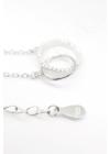 Twin Sparkling Circle - ezüst nyaklánc
