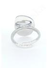 Flat Pebble - ezüstgyűrű