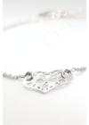 Lacy - szív ezüst karkötő
