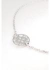 Button - kör ezüst karkötő