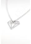 Diamond - gyémánt kontúr ezüst nyaklánc