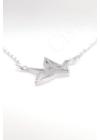 Origami Bird - ezüst nyaklánc