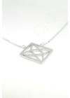 Geometric - négyzet ezüst nyaklánc