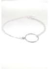 Ino - kör medálos ezüst karkötő