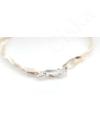 Seléné - fonott ezüst karkötő