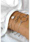Infinity Big -  végtelen jel ezüst karkötő