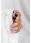 Noir - fekete pillangó fülbevaló