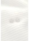 White Flower I - ezüst virág fülbevaló