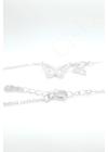 Farfalle Twin - pillangó ezüst nyaklánc