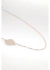Uma - körlapos rozé ezüst nyaklánc