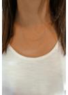 Ruby - dupla szálú nyaklánc