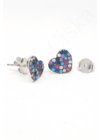 ColorfulLove - színes szív fülbevaló