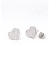Cloé - szív ezüst fülbevaló
