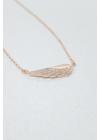 Gold Angel - rosé ezüst angyalszárny nyaklánc