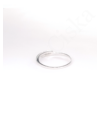 Closed - vékony ezüst gyűrű