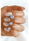 Stone XS - köves ezüst fülbevaló