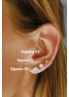 Square XS - négyzet ezüst fülbevaló