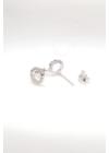Half - kör alakú ezüst fülbevaló