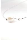 Italian Pearl III - gyöngy medálos ezüst nyaklánc