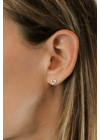 Julia - ezüst szív fülbevaló