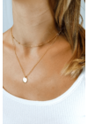 Duo - dupla soros aranyozott nyaklánc