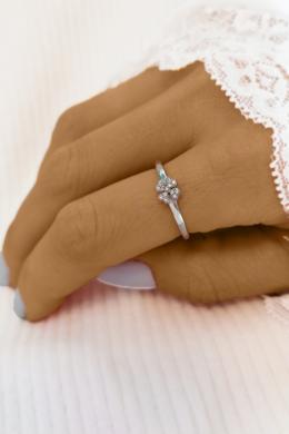 Flower - ezüstgyűrű