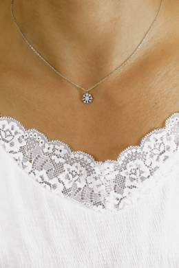 Snowflake - ezüst nyaklánc