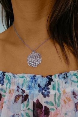 Mandala Életfa Virág - ezüst nyaklánc