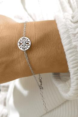 Mandala Lotus - ezüst karkötő